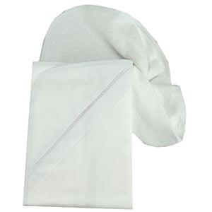 Toalha de banho com capuz poá branco