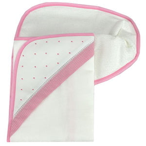 Toalha de banho com capuz poá rosa