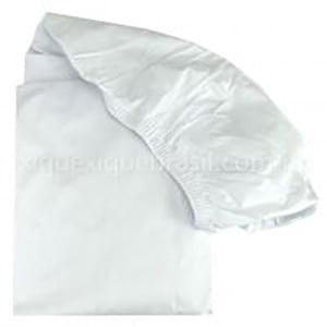 Lençol berço avulso branco com elástico percal 200 fios (1 unid.)