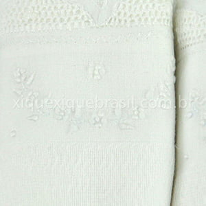 Fralda Renda Renascença Arco Floral Branca (3 unid.)