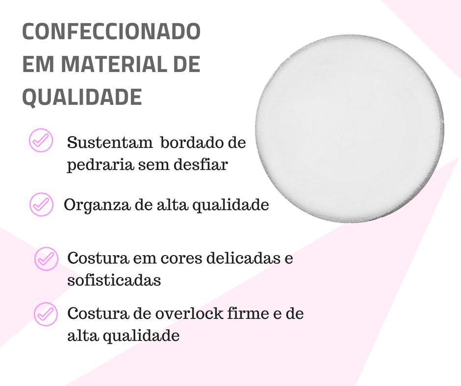 lenço de organza material
