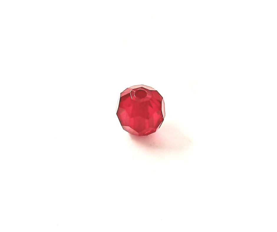 Conta de acrílico sextavada - 12 mm - 500 gramas