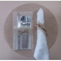 Kit Sousplat + porta talheres + guardanapo + porta guardanapo - 1 unidade