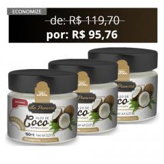 3x Combo Óleo de Coco