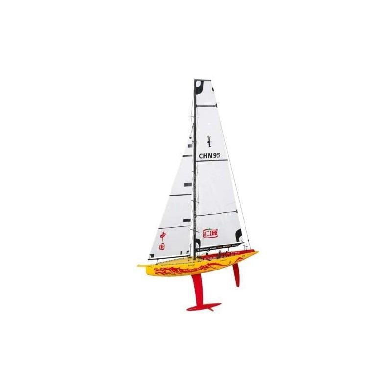 VELEIRO Thunder Tiger 1/25 China Team 1M Racing Yacht Kit