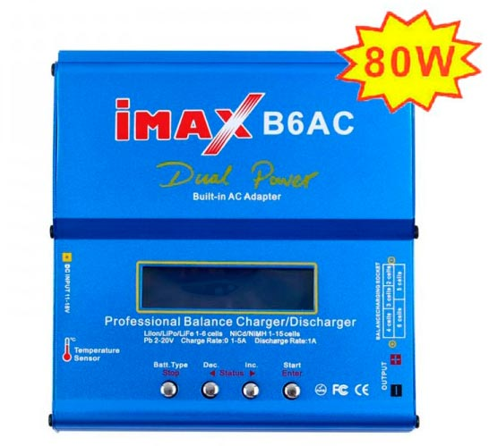 CARREGADOR IMAX 80W - AC/DC - 110/220V COM FONTE E CABOS