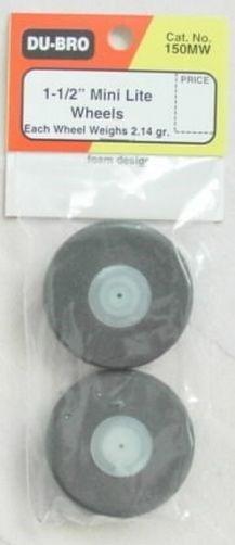 DUBRO - RODA ESPUMA MINI LITE 1-1/2 (PAR) - DUBR 150MW