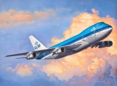PLASTIMODELO Boeing 747-200 Jumbo Jet - 1/450 - REV 03999