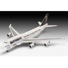 PLASTIMODELO Boeing 747-400 Iron Maiden Ed Force One - The Book of Souls World Tour 2016 - 1/144 - EDIÇÃO LIMITADA - REV 04950