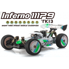 Automodelo Kyosho 1:8 Gp Rs Buggy Inferno Mp9 Tki3 4Wd Branco Rádio Kt331P