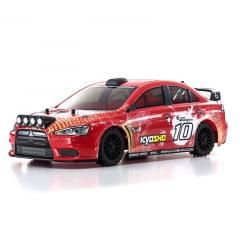 Automodelo Kyosho 1:10 Rc Ep Fazer Ve-X Lancer Evolution Vermelho Rádio Kt231P Bateria Carregador
