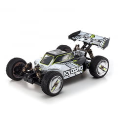 Automodelo Kyosho 1:8 Rc Ep Rs Buggy Inferno Mp9E Tki Brushless 4Wd Branco/Preto Rádio Kt331P
