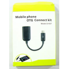 CABO OTG  MICRO USB HOST (S-K07) para Samsung Galaxy S2 / S3 / Nota / Nota 2, Nokia N810, N900, Motorola Xoom