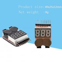 OEM - Medidor de Celula Bateria (1S-8S) Digital 2X1 Buzzer Alarm