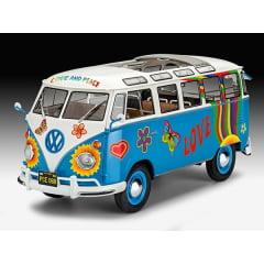 REVELL - Kombi Volkswagen T1 Samba Bus Flower Power - 1/24 - 07050