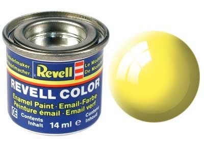 Tinta Revell para plastimodelismo - Esmalte sintético - Amarelo brilhante - 14ml 32112