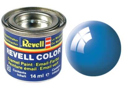 Tinta Revell para plastimodelismo - Esmalte sintético - Azul claro brilhante - 14ml 32150