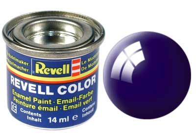 Tinta Revell para plastimodelismo - Esmalte sintético - Azul noite brilhante - 14ml 32154
