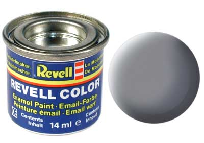 Tinta Revell para plastimodelismo - Esmalte sintético - Cinza rato fosco - 14ml 32147