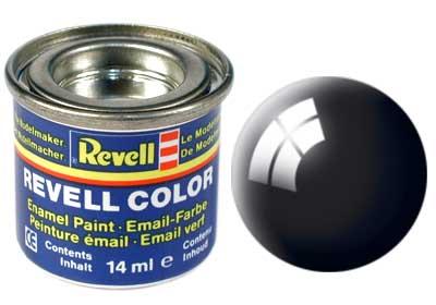 Tinta Revell para plastimodelismo - Esmalte sintético - Preto brilhante - 14ml 32107