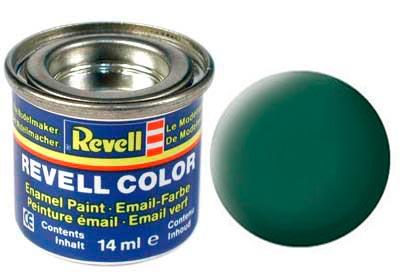 Tinta Revell para plastimodelismo - Esmalte sintético - Verde escuro fosco - 14ml 32139