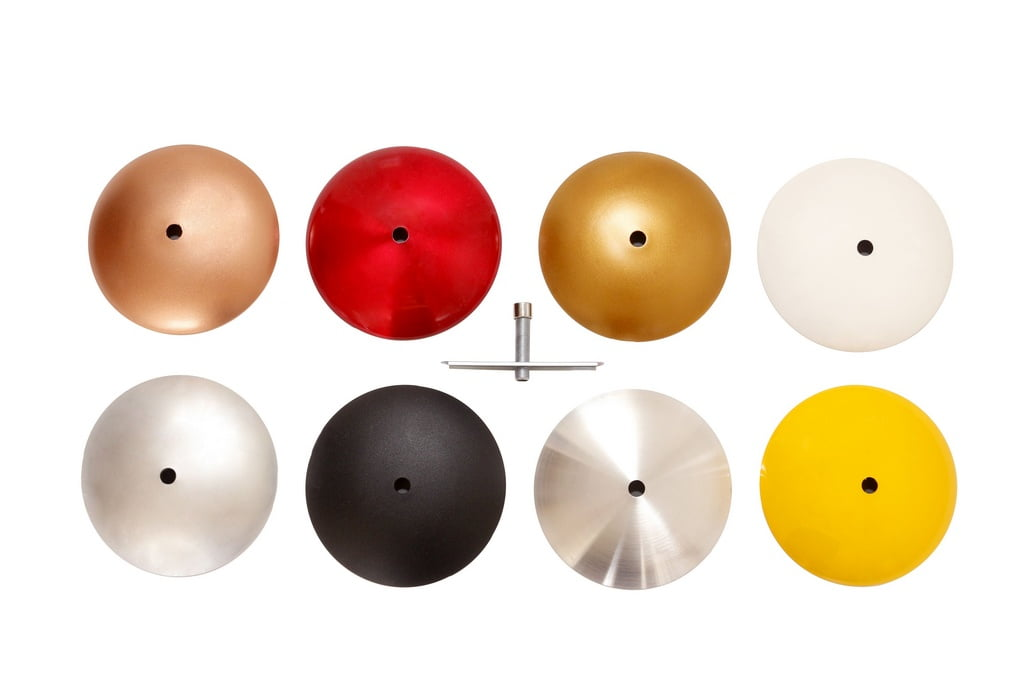 Canopla Concava c/ Kit p/ Luminária ou Pendente - cores