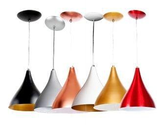 Pendente mod Funil cores diferenciadas