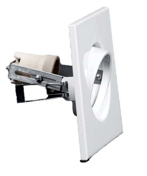 Spot Embutir Quadrado Direcional para Sanca/Gesso 1 Lamp