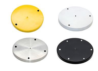 Canopla Grande 24cm com Furos para Conjunto de Pendente Triplo em Aluminio com kit instalação- Cores