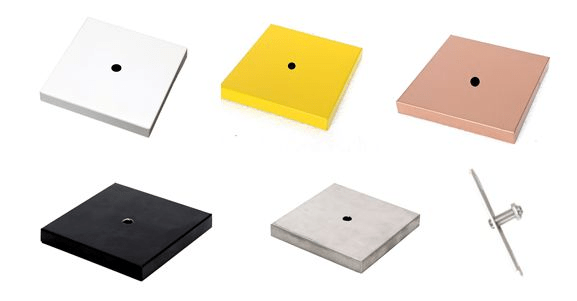 Canopla Quadrada B1 c/ Kit Instalação p/ Luminária ou Pendente - cores