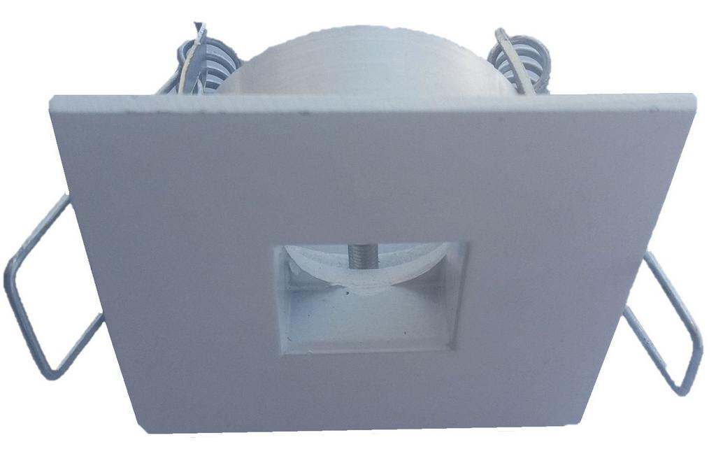 Spot Embutir Mini-Dicroica Quadrada Fixo para Sanca/Gesso/Móveis