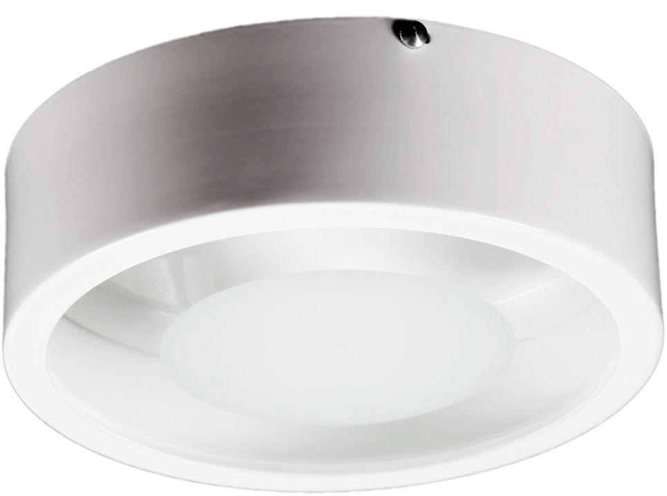 Plafon Redondo mod. Pizza Vidro Centro Fosco p/ 1 ou 2 lâmpadas - cores
