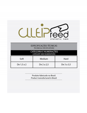 Palheta Sintética Fibra Clleip Reed - Sax Alto