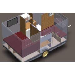 Trailer Luxo 350cm TCM 1 - JEC Trailer