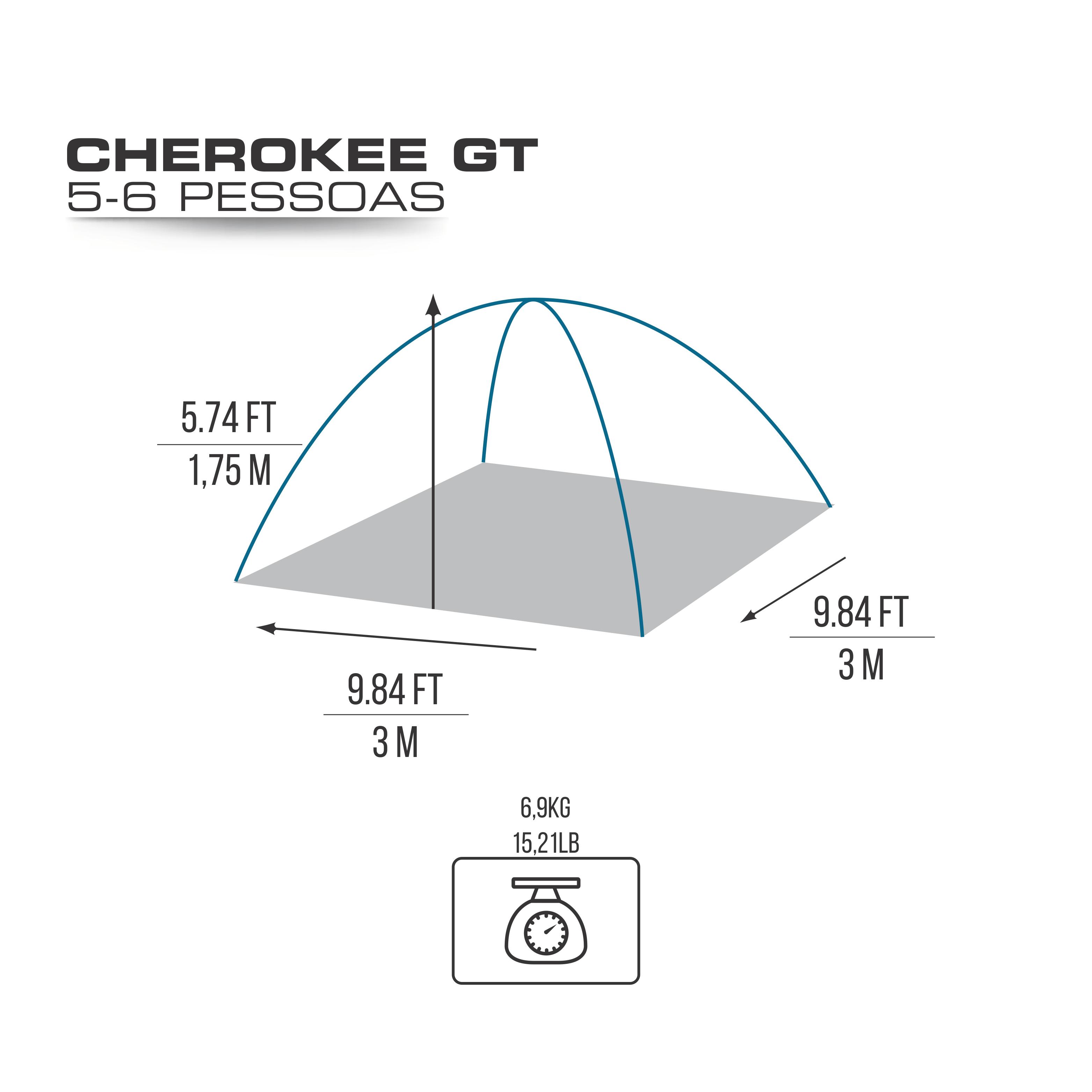 BARRACA CHEROKEE GT 5/6 PESSOAS - NTK