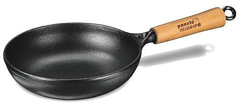 frigideira ferro fundido, panela mineira, 22 cm, antiaderente, bifeteira