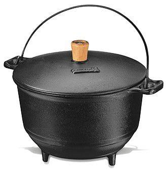 panela de ferro fundido 2 litros, panela de feijoada e caldo, panela mineira, caldeirão de ferro, panela tripé