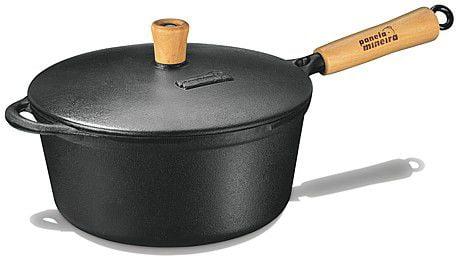 panela de ferro fundido, caçarola, cacarola, 1,2 litros, panela mineira,cabo