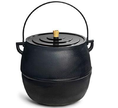 panela de ferro fundido, caldeirao, 28 litros, panela mineira