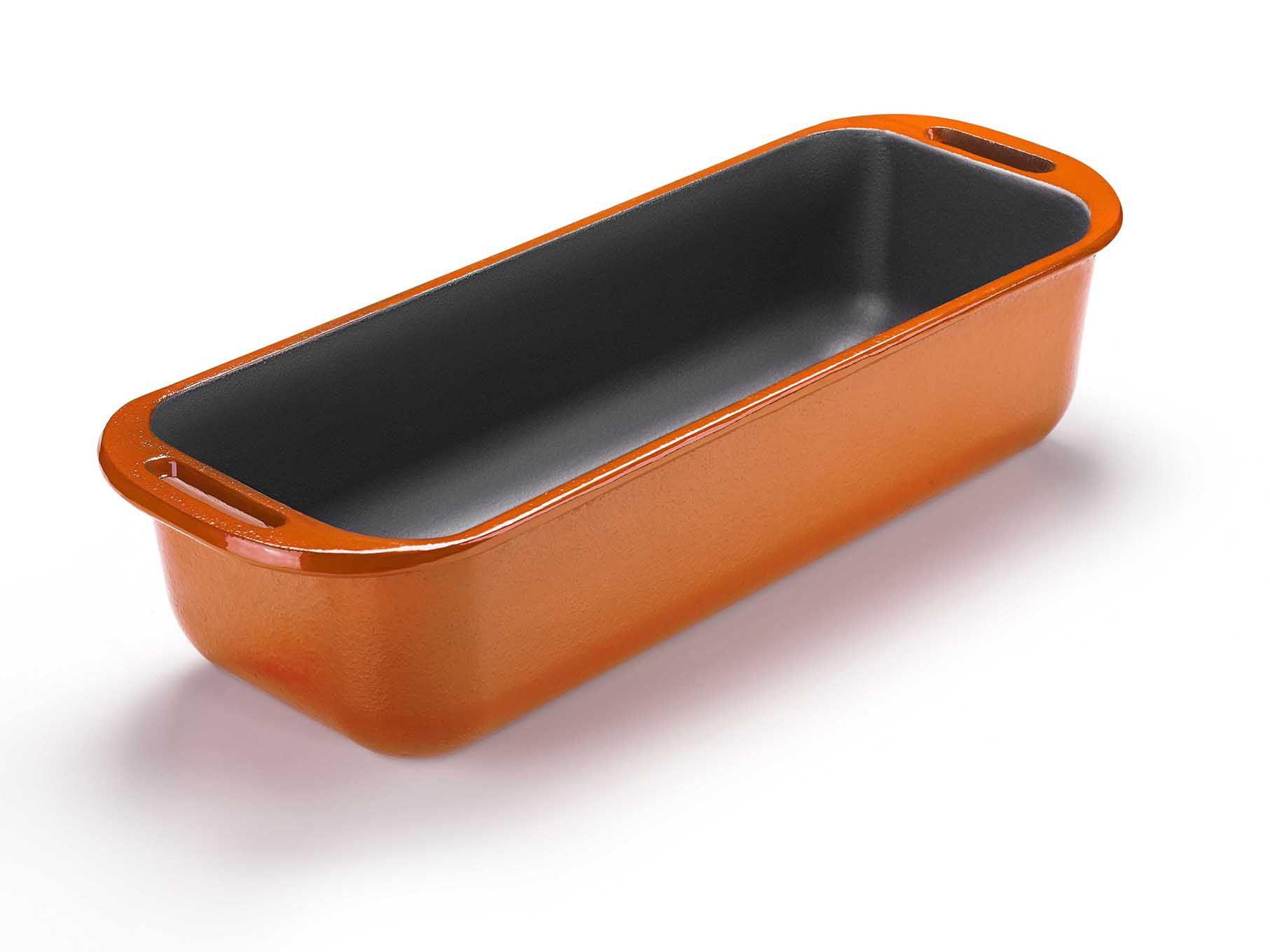 comprar assadeira de ferro fundido para pão, assar pão na panela de ferro, esmaltada laranja
