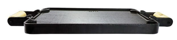 chapa de ferro fundido dupla face com alça de ferro, chapa para fogão, fundicao santana 29x24