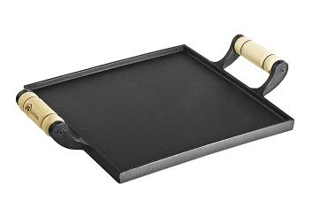 chapa de ferro fundido, 25cm, bifeira, bifeteira, santana, picanheira quadrada