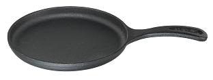 chapa tapioca cabo de ferro, bifeteira de ferro fundido, tapioqueira, santana 18cm