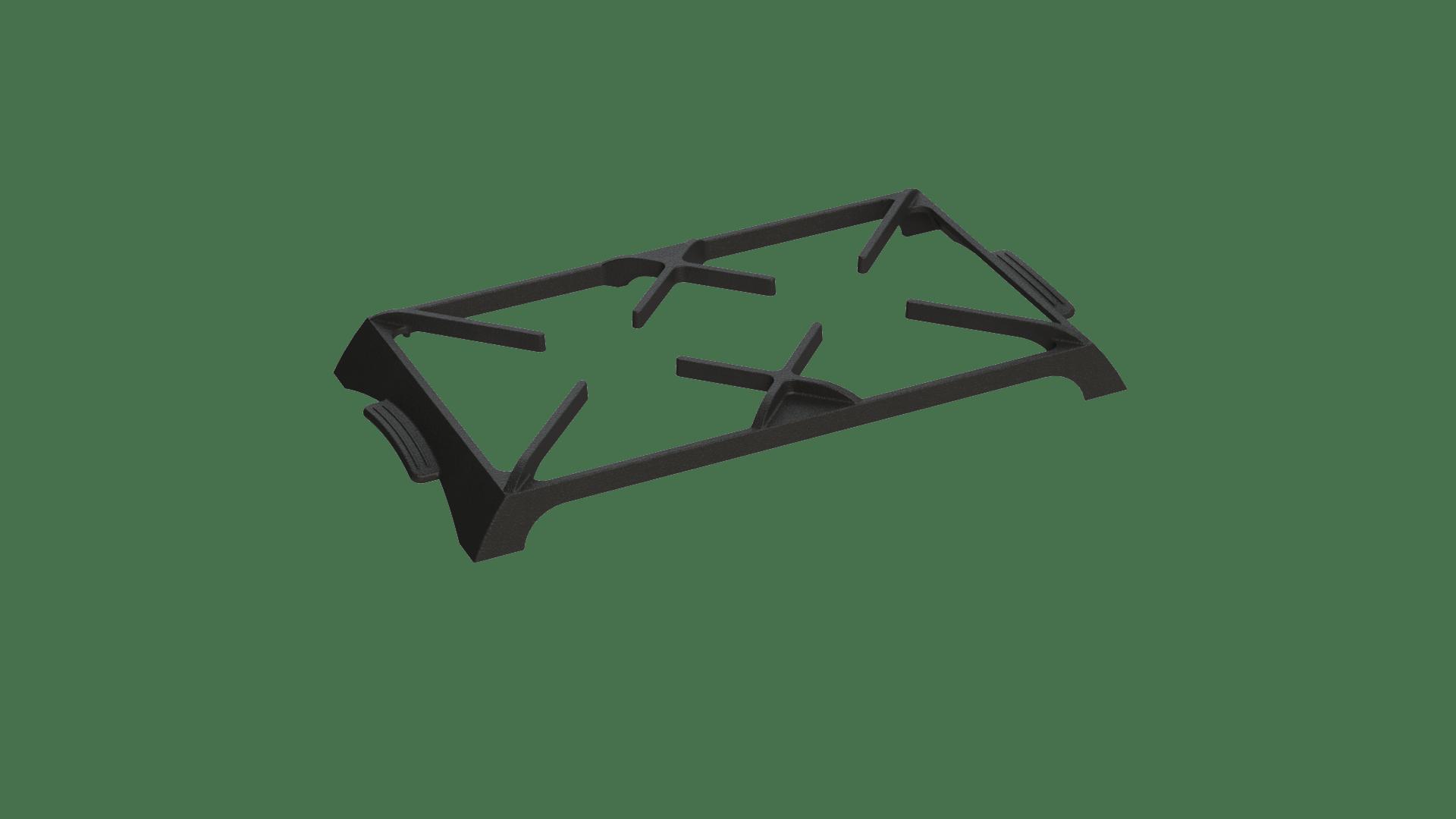 suporte aparador ferro fundido, grelha ferro fundido, supla de panela ferro fundido, 41x25cm