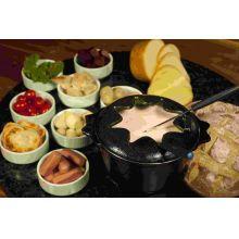 fondue ferro fundido azul, aparelho fondue, fondi, rechaud fondue, panela de fondue, panela mineira