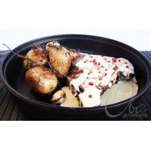 frigideira de ferro fundido 28cm, frigideira grande, frigideira grill, chapa de ferro, frigideira antiaderente, libaneza