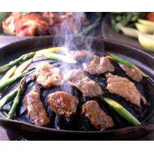 churrasqueira gengis khan, ferro fundido, 33 cm, fogareiro carvão, pedestal