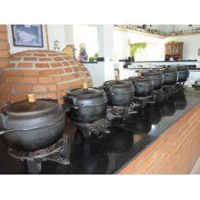 panela de ferro fundido, panela de feijoada, caldo, caldeirão de ferro, natular 9 litros com fogareiro