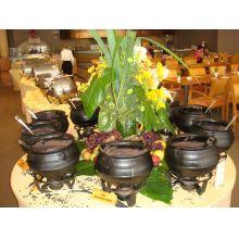 panela de ferro fundido, caldeirão de bruxa, buffet de feijoada, 10 l, panela wicca, panela tripé, caldeirão de ferro