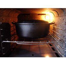 panela de ferro fundido, caçarola, cacarola, 5 litros, panela mineira,oval